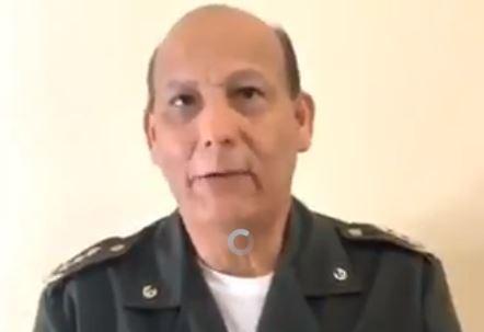 """Rubén Paz Jiménez, en un mensaje público dijo que """"haciendo uso de un derecho constitucional"""" desconocía como Presidente y Comandante de las FA al líder socialista Nicolás Maduro (Captura de vídeo)"""