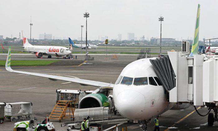 Aviones en el Aeropuerto Internacional Sukarno-Hatta en Tangeran, Yakarta, el 27 de noviembre de 2018. (Adek Berry/AFP/Getty Images)