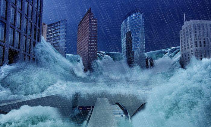 Representación gráfica de una mega inundación (Imagen representativa/Pixabay)