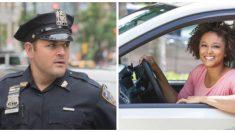 Esta mujer conducía sin luces, pero al policía se le ocurre un plan mejor mucho mejor que una multa