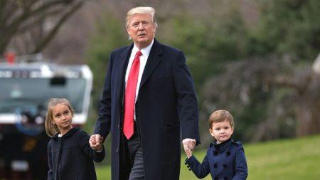 Trump siempre encuentra tiempo en su ocupada agenda para dedicarse a sus nietos