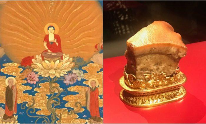 Objetos del Museo Nacional del Palacio de Taiwán expuestos en la Galería Nacional de Nueva Gales del Sur, Australia. (La Gran Época)