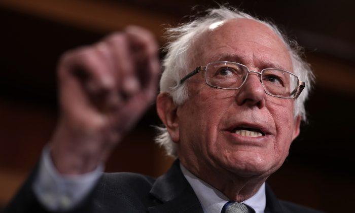 El senador Bernie Sanders en el Capitolio de Estados Unidos el 30 de enero de 2019. (Win McNamee/Getty Images)