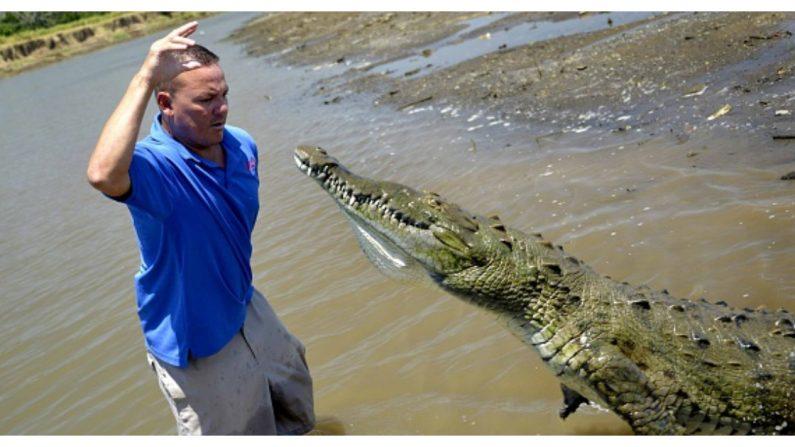 Pescador australiano pasa el susto de su vida al ser perseguido por un cocodrilo devorador de humanos