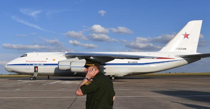 Avión militar ruso Antonov An-124. (ALAIN JOCARD/AFP/Getty Images)