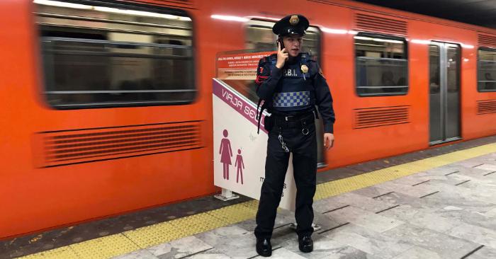 Estación de metro Pino Suárez en la Ciudad de México, el 7 de febrero de 2019. Foto de ALFREDO ESTRELLA/AFP/Getty Images.