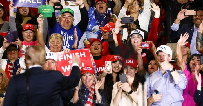 """El presidente Donald Trump en un mitin """"Hacer que América sea grandiosa otra vez"""", en El Paso, Texas, el 11 de febrero de 2019. (Charlotte Cuthbertson/La Gran Época)"""