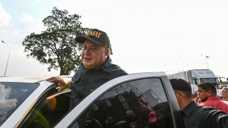 El jefe de la Asamblea Constituyente de Venezuela de Nicolás Maduro, Diosdado Cabello, el 22 de febrero de 2019. (JUAN BARRETO/AFP/Getty Images)