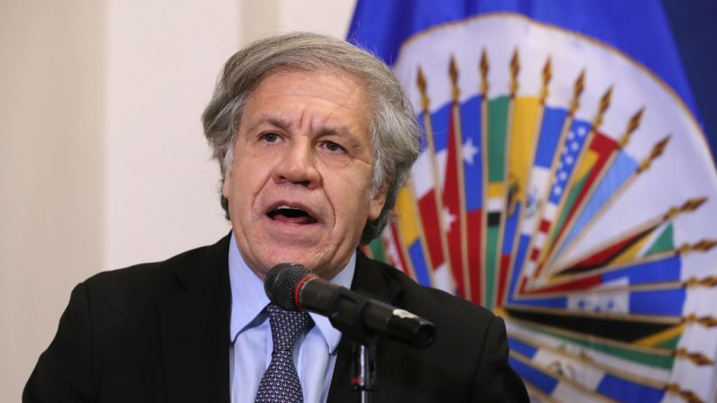 El Secretario General de la Organización de los Estados Americanos, Luis Almagro, en una conferencia de prensa en la OEA el 20 de marzo de 2019 en Washington, DC.   (Chip Somodevilla/Getty Images)