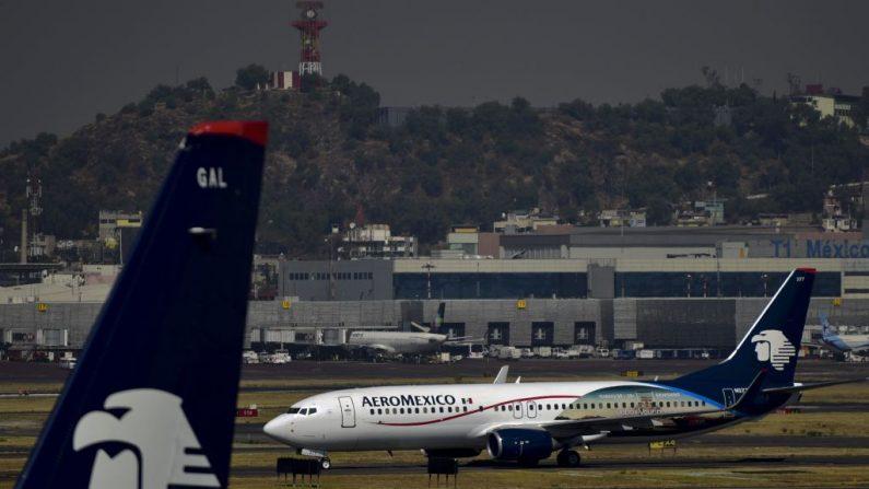 """Aeroméxico espera """"información contundente"""" del accidente en Etiopía para volver a volar sus Boeing 737. (PEDRO PARDO/AFP/Getty Images)"""