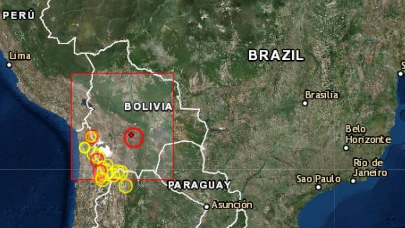 Terremoto en Bolivia de 6,3 grados en 15 de marzo a las 5:03, hora UTC a 28 kilómetros de Cliza entre Oruro, Cochabamba y Sucre. (CSEM)