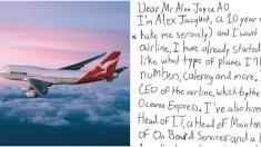 Niño 'emprendedor' pidió consejos a aerolínea para crear la suya y recibió seria respuesta del CEO