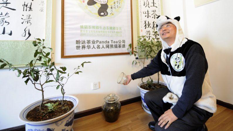 Empresario chino An Yanshi está convencido de que ha encontrado el ingrediente clave para producir el té más caro del mundo. (Crédito: LIU JIN/AFP/Getty Images)
