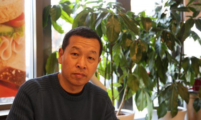 El exoficial de la armada china Yao Cheng en Nueva York en 2016. (Shi Ping/La Gran Época)