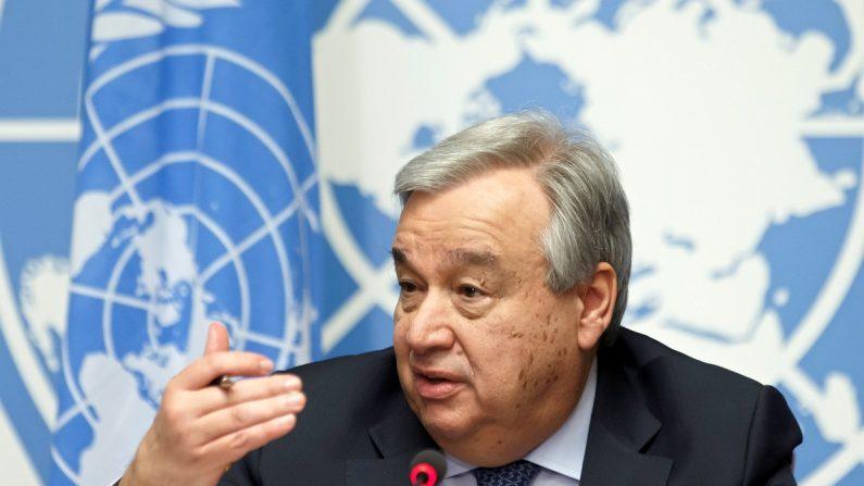 El Secretario General de las Naciones Unidas, Antonio Guterres, en la sede europea de las Naciones Unidas en Ginebra, Suiza, el 25 de febrero de 2019. EPA/SALVATORE DI NOLFI