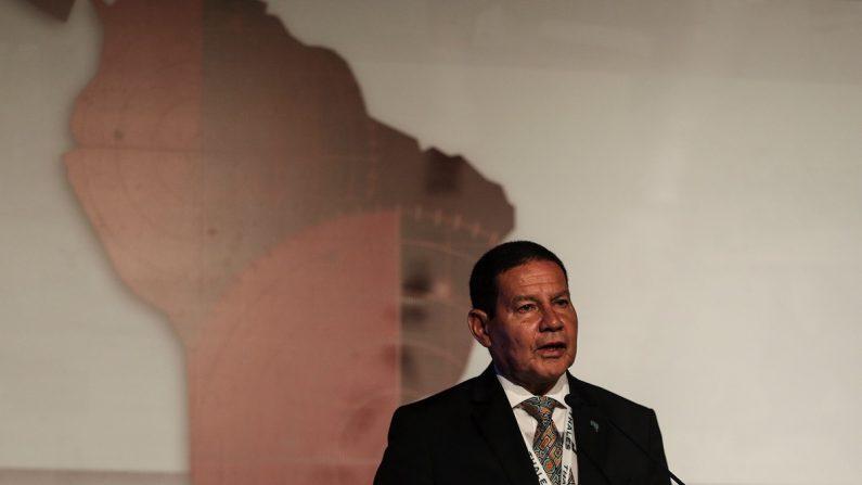 El vicepresidente de Brasil, el general de la reserva Hamilton Mourao. EFE/ Antonio Lacerda
