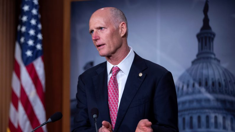 En la imagen, el senador republicano de Florida, Rick Scott. EFE/Archivo