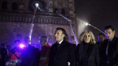 """Macron promete reconstruir Notre Dame: """"A partir de mañana llamaremos a los mayores talentos"""""""