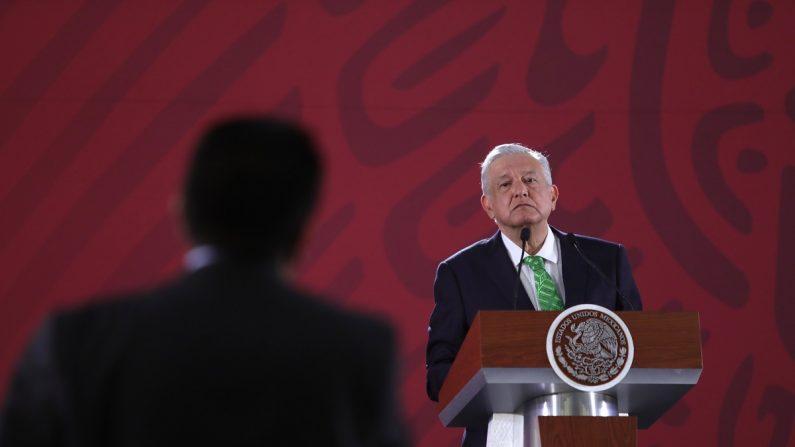 El presidente de México, Andrés Manuel López Obrador, durante una conferencia de prensa. EFE/Archivo