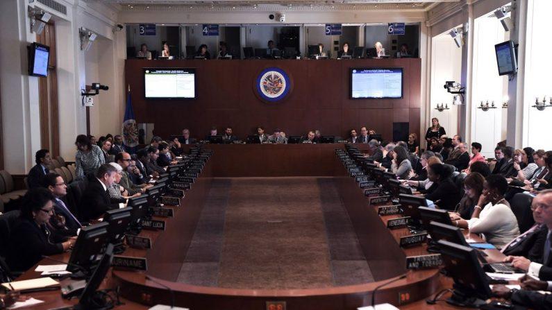 Vista del pleno del Consejo Permanente de la Organización de Estados Americanos (OEA). EFE/Archivo