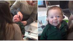 Bebé de tres meses tiene la reacción más adorable al escuchar la voz de su mamá por primera vez