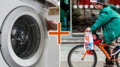 """Innovadora """"lavadora con bicicleta"""" combina la bicicleta fija y el lavado de ropa en un solo paso"""