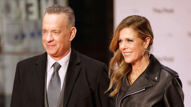 Tom Hans y Rita Wilson. (Crédito: Tristan Fewings/ Getty Images)