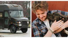 Perrito de refugio salta a la camioneta de un repartidor y sus vidas cambian para siempre