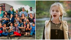 Niña que lucha contra el cáncer cerebral recibe una sorpresa de toda la comunidad en su cumpleaños