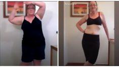 Sorprendente transformación de una mujer que perdió peso deja en shock a todo el mundo