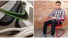 Joven con parálisis cerebral no puede amarrarse los zapatos y Nike le diseña un calzado especial