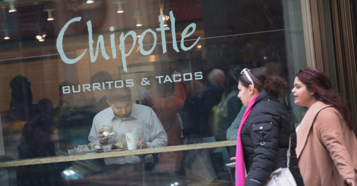 Un local de comida de Chipotle en Chicago, Illinois. Foto de Scott Olson/Getty Images.