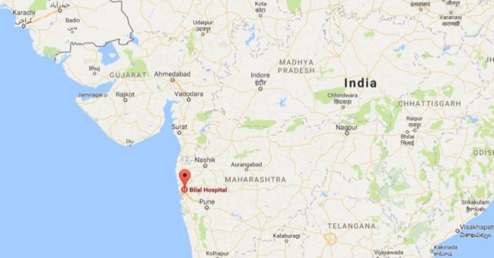Un bebé nació con su propio hermano gemelo medio formado dentro de su estómago, cerca de Mumbai, en la India. (Google Maps).