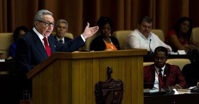 Expresidente cubano y líder del Partido Comunista de Cuba (PCC, único legal), Raúl Castro, durante un discurso en la Asamblea Nacional del Poder Popular el 10 de abril, en La Habana (Cuba). EFE/Irene Perez/Cubadebate