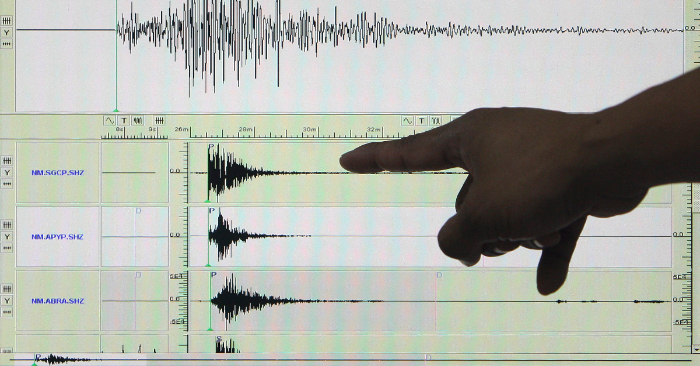 Imagen de archivo de un sismógrafo. EFE/Archivo