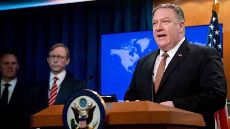 El Secretario de Estado de Estados Unidos, Mike Pompeo en Washington, DC, el 8 de abril de 2019. (SAUL LOEB/AFP/Getty Images)