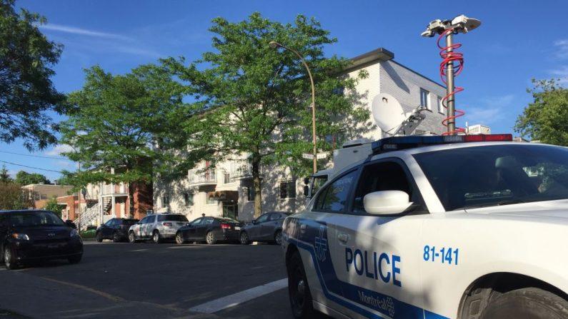 La policía de Canadá durante una vigilancia. Inagen de archivo del 21 de junio de 2017. (JULIEN BESSET/AFP/Getty Images)