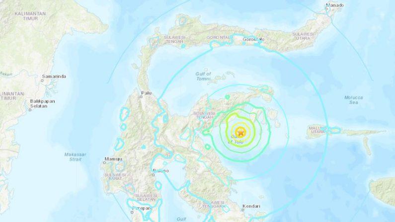Terremoto en Indonesia de 6,8 grados el 12 de abril de 2018. (USGS)