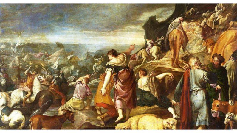 Foto de Esteban March (1610-1668) La obra representa a los hebreos cruzando a pie el Mar Rojo tras su salida de Egipto (Crédito: Wikimedia Commons/CC0 1.0 Universal (CC0 1.0))