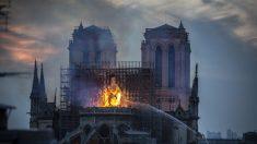 Personas aseguran ver figuras religiosas en las llamas de Notre Dame