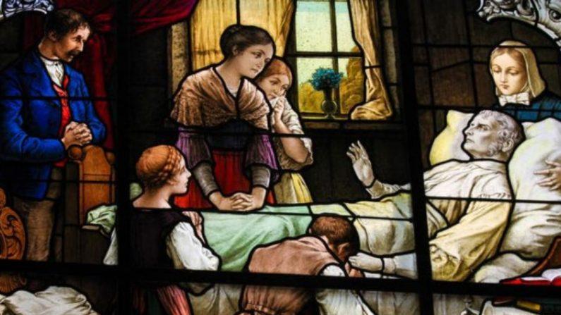 Mantener la vigilia sobre un ser querido moribundo era un ritual común que todavía se lleva a cabo en muchas partes del mundo. (jorisvo/shutterstock)