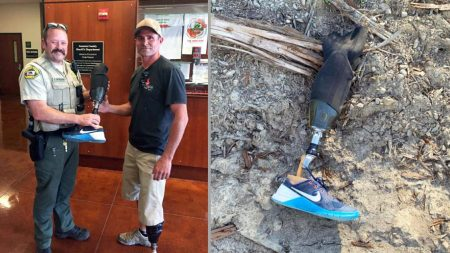 Resuelven el misterio de una pierna protésica de 15.000 dólares aparecida en mitad de un aserradero