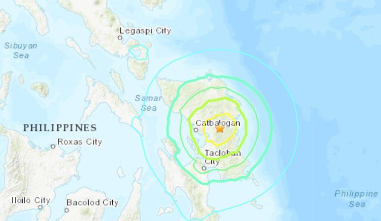 Terremoto en Filipinas el 23 de abril de 2019 (USGS)