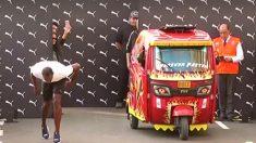 Bolt desafía a un mototaxi de Perú en increíble carrera