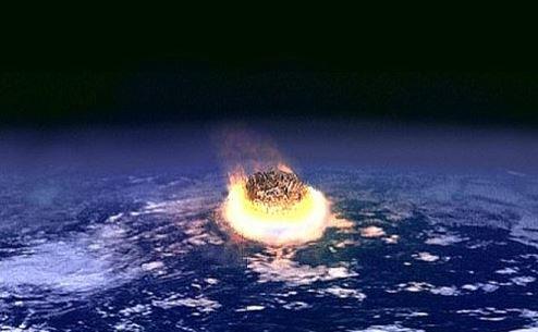 Impacto de asteroide o cometa. (recreación artística. (Wikimedia Commons)