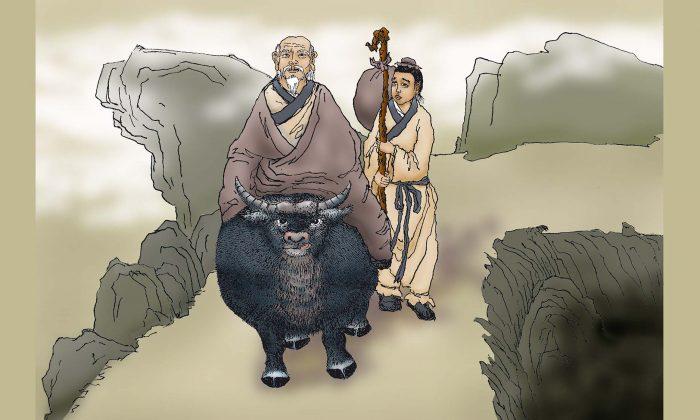 Se dice que Laozi tenía un sirviente llamado Xu Jia que lo atendió por más de 200 años. (Sun Mingguo/La Gran Época)