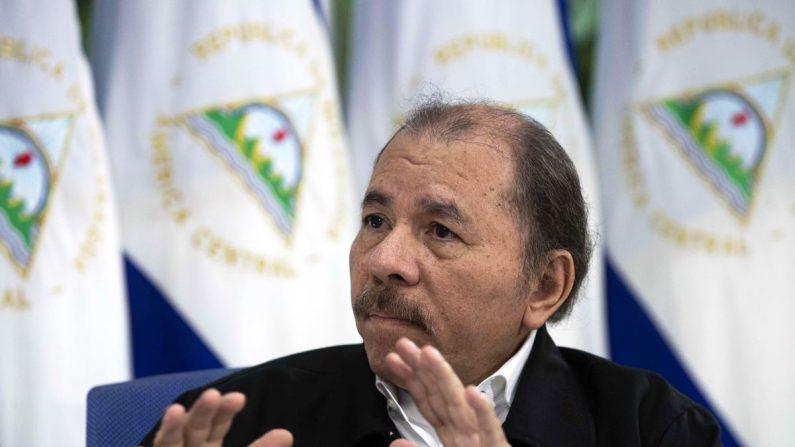 El líder nicaragüense, Daniel Ortega. EFE/Archivo
