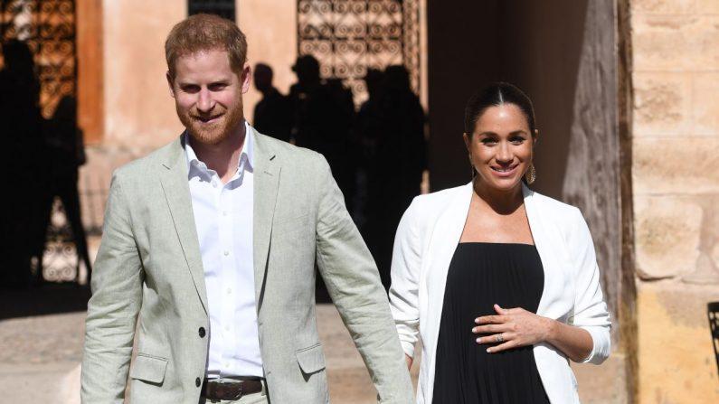 Los duques de Sussex, Enrique y Meghan, mientras visitan los Jardines Andaluces en Rabat (Marruecos) el 25 de febrero de 2019. EFE