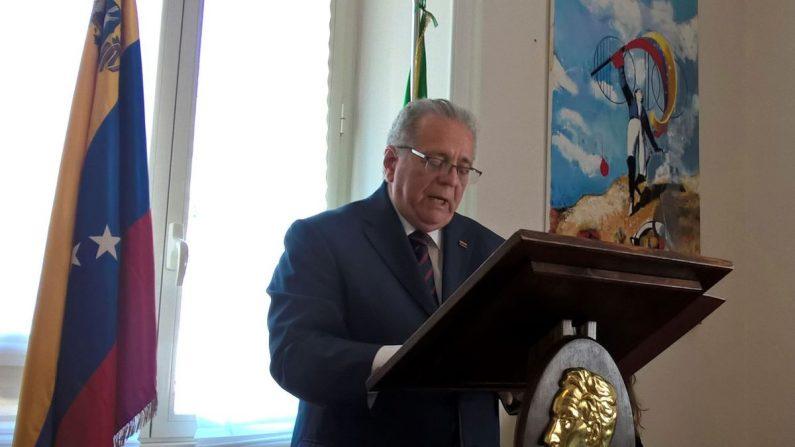 El embajador del régimen venezolano en Italia, Julián Isaías Rodríguez Díaz. EFE
