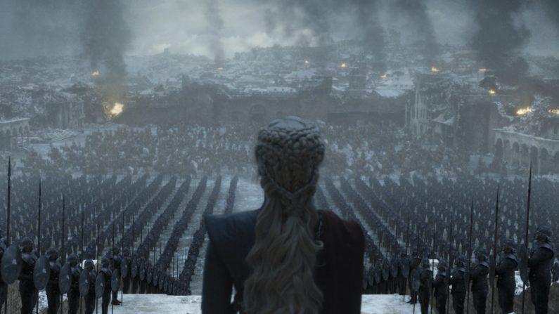"""Daenerys Targaryen, interpretado por Emilia Clarke, durante una escena del sexto episodio de la octava temporada de la serie de HBO, """"Game of Thrones"""", que se emitirá este domingo. (Créditos: EFE/HBO)"""